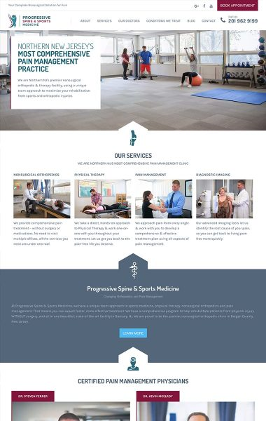 Progressive Spine and Sports Medicine - Website Refresh
